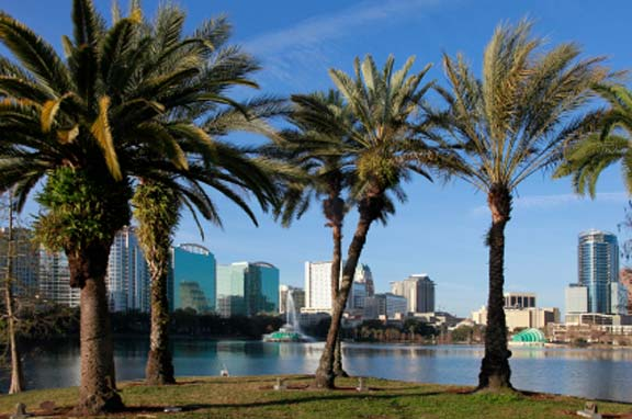 Orlando, Florida - palm trees and modern buildings